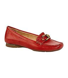 Naturalizer Sophie Moc Loafers. Nice in the red, though I'd like 'em in chestnut, if they ever become available in a regular 10! Otherwise, I just might get 'em in black. #Dillards