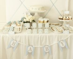 vintage baby boy shower - Google Search