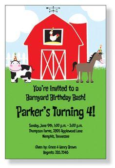 Barnyard Party Invitations