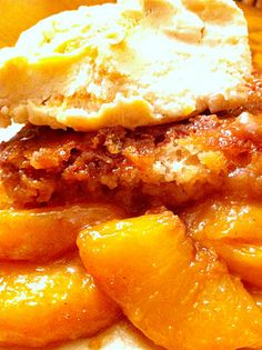 Fresh Peach Cobbler Recipe The Old Southern Way (Peaches over batter before baking)