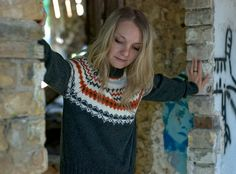 Hand knit woman man fair isle sweater by Muza on Etsy