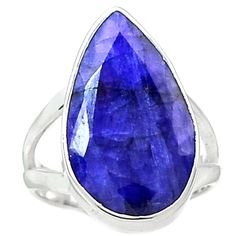 Indian Sapphire 925 Sterling Silver Ring Jewelry s.7 SAPR1078