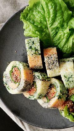 How to make Colorful Gimbap Korean Sushi.