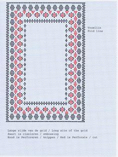 Patroon Annie 0005a Pergamano diagonaal grid