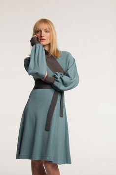 Mette Møller designs simple, feminine clothes for the practical and beautiful woman of today. Simple Designs, High Neck Dress, Beautiful Women, Feminine, Winter, Clothes, Dresses, Style, Fashion
