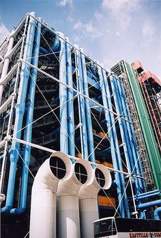 Pompidou Center in Paris- Modernists embraced the messiness and chaos of urban life in their work