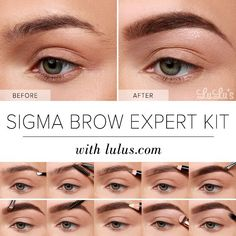 Lulus+How-To:+Sigma+Brow+Expert+Kit+Eyebrow+Tutorial