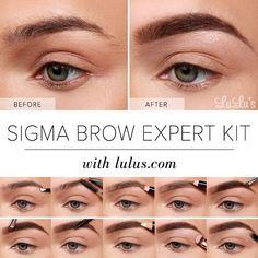 Lulus+How-To:+Sigma+Brow+Expert+Kit+Eyebrow+Tutorial