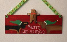 Dachshund Door Decoration Merry Christmas by MaxMinnieandMe, $16.00