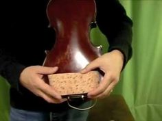 How to make a violin shoulder rest from a car sponge. (Might work best for young students.)