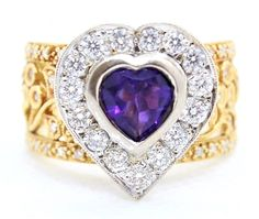 Purity: Here at Gold Coast Jewellery Loans, we aren't just a simple pawnbroker. We have redefined the scope of what pawn brokers are. Ring specifications We do accept lay-by. Amethyst And Diamond Ring, Heart Of Gold, Heart Ring, Coast, Jewellery, Yellow, Rings, Ebay, Jewels