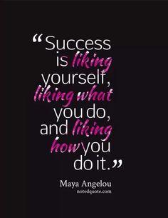 Success...spoken by a true hero