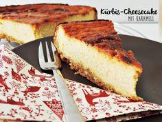 cheesecake with pumpkin and caramel | Kürbis-Cheesecake mit Karamellglasur