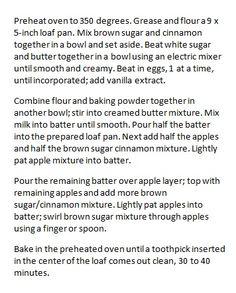 enjoy & have a nice meal !!!: Tasty Apple Cinnamon Loaf Recipe !!!!