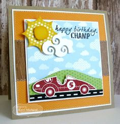 Happy Birthday Champ Card by Kerri Michaud #Cardmaking, #Birthday, #TEMatched, #Masculine, #ShareJoy, #TE