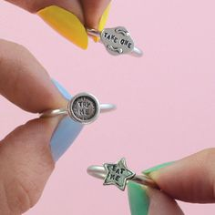 buymadesimple.com: In Wonderland Silver Stacking Rings