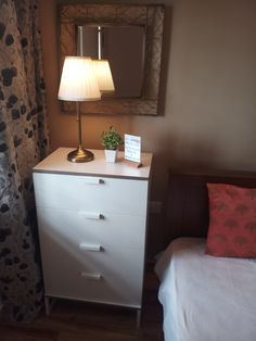 A small space always call for a dual purpose furniture. In our master bedroom we set up this dresser which acts as our bedside table too! Ikea Furniture, Online Furniture, Cool Furniture, Furniture Buyers, Furniture Disposal, Bedroom Wardrobe, Master Bedroom, Dresser As Nightstand, Bedside