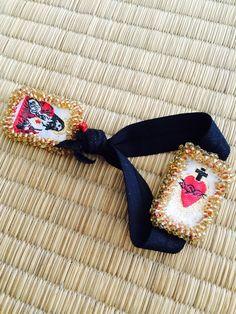 Spiritual Jewelry, Religious Jewelry, Diy Jewelry, Jewlery, Handmade Jewelry, Prayer Cards, Catholic Art, Needlepoint, Beads