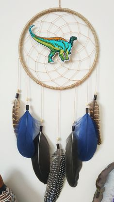 Dream Catcher Decor, Dream Catcher Nursery, Gifts For Him, Gifts For Women, Great Gifts, Pinterest Gift Ideas, Personalized Gifts, Handmade Gifts, Dinosaur Nursery