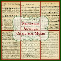 Vintage Furniture Free Printable Sheet Music from Knick of Time - Free printable antique Christmas music pages for Christmas projects, crafting, scrapooking, or just print and frame them! From Knick of Time. Christmas Sheet Music, Noel Christmas, Homemade Christmas, Winter Christmas, Music Christmas Ornaments, Musical Christmas Gifts, Musical Christmas Decorations, Sheet Music Ornaments, Victorian Christmas Decorations