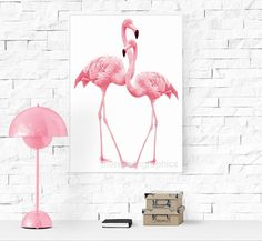 Flamingo printable. Pink flamingo.Flamingo art by Morethangraphics
