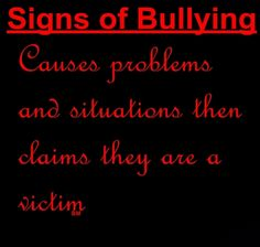 signs of bullying