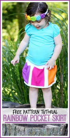 Rainbow Pocket Skirt
