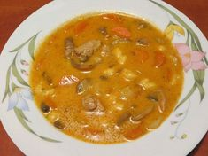 Favágó leves Cheeseburger Chowder, Thai Red Curry, Food And Drink, Ethnic Recipes, Bors