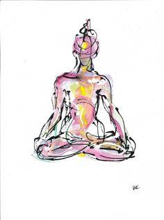 Lotus 2,  available on http://fineartamerica.com/featured/lotus-2-boryana-korcheva.html, #yoga, #yogaart, #yogadesign