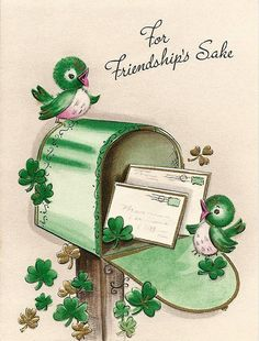 Patrick's Day card vintage St. Patrick's Day card vintage St. Patrick's Day card - St Patricks Day Cards, Happy St Patricks Day, Saint Patricks, Vintage Greeting Cards, Vintage Postcards, Images Vintage, Irish Blessing, Luck Of The Irish, Irish Luck