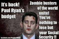"""New Ryan budget: """"A zombie he won't let die"""""""