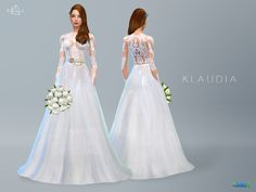 Lace Wedding Dress KLAUDIA. Inspired by Zuhair Murad Haute Couture 2014 Spring Summer Collection. New mesh by me. ***Recolor is allowed but PLEASE DO NOT include the mesh. Link to the original download page instead.*** DOWNLOAD @tornadobeard22 @...