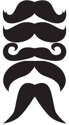 bigotes plantillas imprimibles photocal