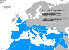 Here's what we would get if the Roman Empire was completely restored in our time.
