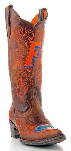 Gameday Boots Womens College Team Florida Gators Brass FAL-L016-1 #GamedayBoots #CowboyWestern
