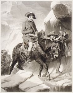 Alphonse François - Napoleone attraversa le Alpi