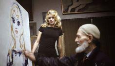 Portrait of Brigitte Bardot by Kees van Dongen, 1964