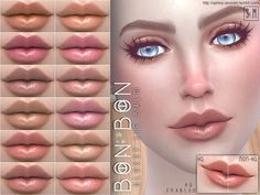 Sims 4 CC's - The Best: Candy Lip Colour by Screaming Mustard