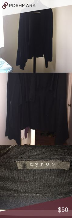 Brand New without tag Black Cardigan Sweater Large Black Sweater beautiful and cozy. You can wear it with any pants or shirts colors. So soft and fluffy. If you like I can make a good price. Sweaters Cardigans