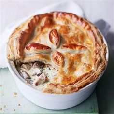 pork and mushroom pie -