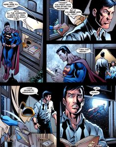 Superman does Dick's homework, from Superman 700.