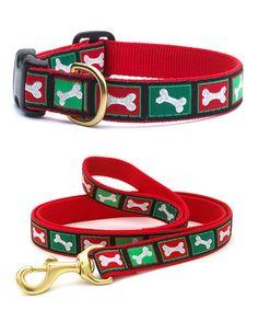 Christmas Bones Pet Collar & Leash #zulily #zulilyfinds