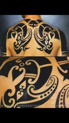 Schiena Borneo - Tattooing by Michelangelo - Milano, Italy Couple Tattoos, Tattoos For Guys, Body Art Tattoos, Tribal Tattoos, Geometric Tattoos, Paar Tattoos, Black White Tattoos, Marquesan Tattoos, Tattoo Graphic