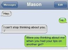 This person who asks the important questions.   17 Of The Greatest Responses To An Ex Text Of All Time
