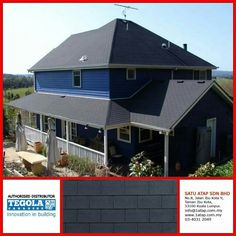 Tegola premium rectangular shingle roof from Italy.  Express freedom & peace of mind to say you are a successful person by making a great decision to choose Tegola as your building crown. Essentially you are investing a roof for life. Tegola came with warranty & anti theft at no additional cost. Twenty years from now, it's still shelters you best.  Tegola roof for life.