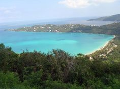 Megans Bay St. Thomas Virgin Island, this place was beautiful - been there, see that tiny pink dot down toward the end of the peninsula that's where we stayed