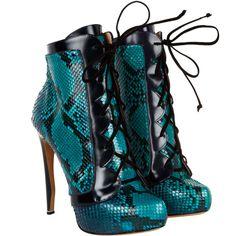 Ocean Blue Python booties by Nicholas Kirkwood.... !