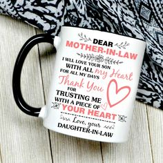 Happy Mother's Day Dear Mother-in-law - Meaningful Gift For Husband Mom Happy Mothers Day Mom, Mothers Day Gifts From Daughter, Mom Day, Gifts For Husband, Mother Gifts, Gifts For Mom, Mom In Law, Daughter In Law, Mother In Law