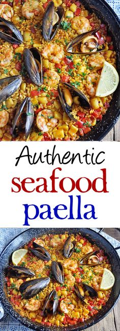 Authentic Spanish Seafood Paella