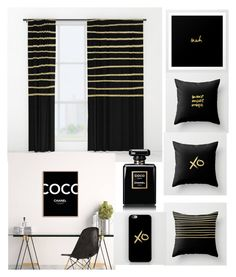 """""""back to black"""" by zpeale ❤ liked on Polyvore featuring interior, interiors, interior design, home, home decor, interior decorating and Chanel"""